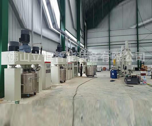 玻璃胶/硅酮胶成套生产线案例